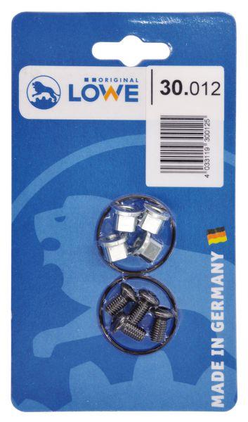 Löwe 30.012 Schrauben für Griffrohre 1 Satz (4 Stück) im Blister
