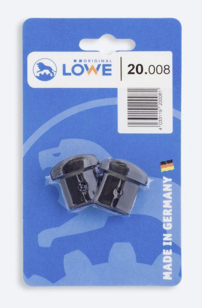 Löwe 20.008 Verschlusskappen, 1 Paar im Blister für Löwe 20 + Löwe 22
