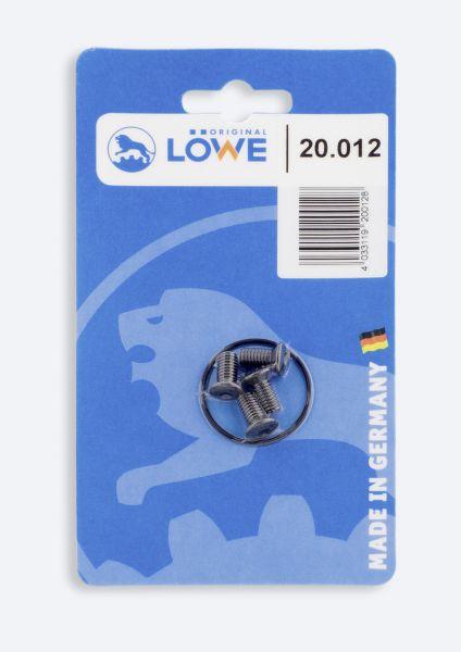 Löwe 20.012 Schrauben für Griffrohre, 1 Satz (4 Stück) im Blister für Löwe 20 + Löwe 21 + Löwe 22